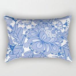 Lace blue design. Vector fashion illustration Rectangular Pillow