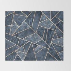 Soft Dark Blue Stone Throw Blanket