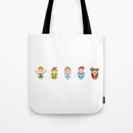 Peter Pan All Pixel Characters Tote Bag