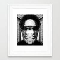 jon contino Framed Art Prints featuring Jon 345 by Jose Luis