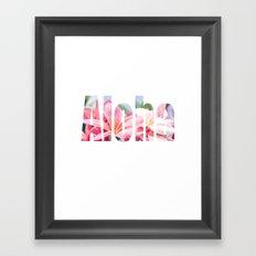 Aloha white Framed Art Print