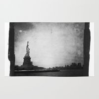 new york Area & Throw Rugs featuring New York, New York by Dan Howard