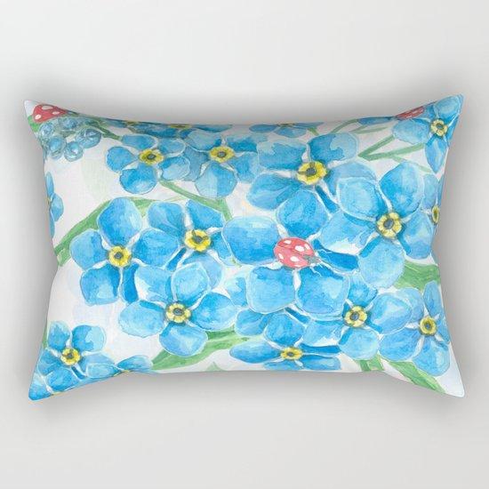 Forget me not seamless floral pattern Rectangular Pillow