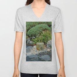 Japanese garden 7 Unisex V-Neck