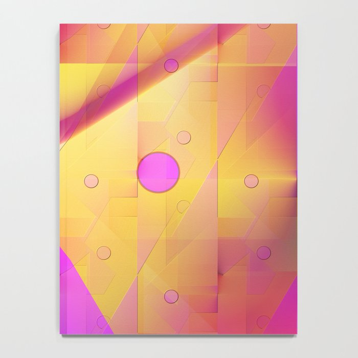 Geometric pattern pink and orange  Notebook