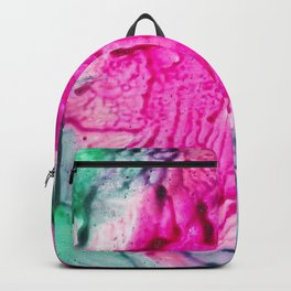 Pink abstract flowers Backpack