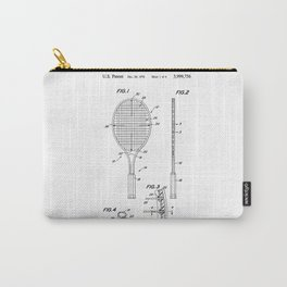 Tennis Racket Patent Carry-All Pouch