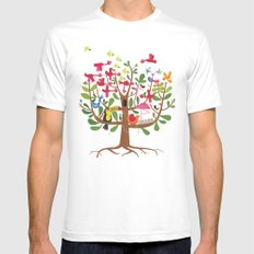summer tree SMALL White Mens Fitted Tee