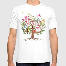 summer tree White MEDIUM Mens Fitted Tee