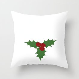 Feliz Navidad | Holly Throw Pillow