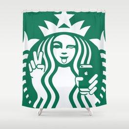 Selfie - 'Starbucks ICONS' Shower Curtain