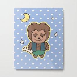 Kawaii Little Wolfman Metal Print