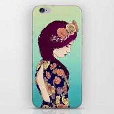 Yellow Garden Lady iPhone Skin