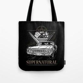 Supernatural Impala Black Tote Bag