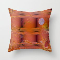 ABSTRACT - Migratory Cranes Throw Pillow