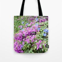 indonesia Tote Bags featuring Flower (Bali, Indonesia) by Christian Haberäcker - acryl abstract