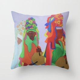 Festa do Rosario Throw Pillow