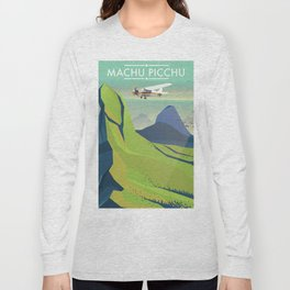 machu picchu travel poster Long Sleeve T-shirt