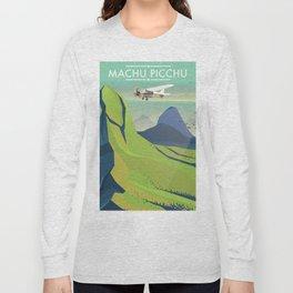 machu picchu travel poster Long Sleeve T-shirt
