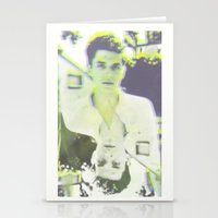 john mayer Stationery Cards featuring Young John by Kat Monkey