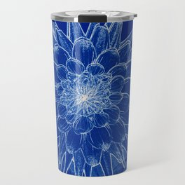 flower on blue Travel Mug