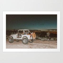 Vintage desert ride Art Print