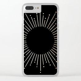 Sunburst Gold Copper Bronze on Black Clear iPhone Case
