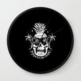 Skull pineapple Wall Clock