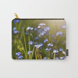 Forget me not flowers in sunlight Carry-All Pouch