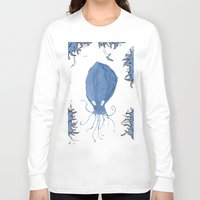squid Long Sleeve T-shirts featuring squid.  by Elvis Vazquez
