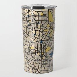 Bangalore Yellow City Map Travel Mug