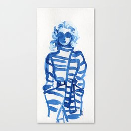 Jeanne Moreau in a Vivienne Westwood outfit Canvas Print