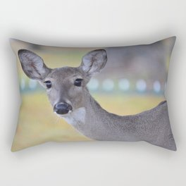 Eyes as big as saucers & as black as coal! Rectangular Pillow