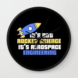 Aerospace Engineer Gift I Rocket Science Wall Clock