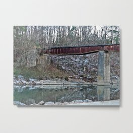 Winter Caddo River Tressle Metal Print