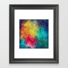 Abstract Color Wave Flash Framed Art Print
