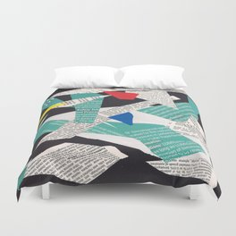 Collage abstract multicolor 3334 Duvet Cover