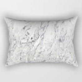 Vintage rustic gray white elegant marble Rectangular Pillow