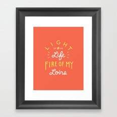Favorite quote Framed Art Print