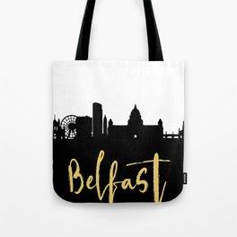 BELFAST NORTHERN IRELAND DESIGNER SILHOUETTE SKYLINE ART Tote Bag