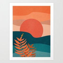 A tropical landscape1 Art Print