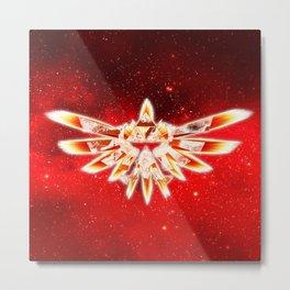 Zelda Red Nebula Metal Print