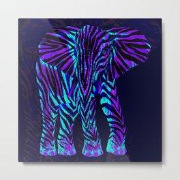 African Blue Metal Print