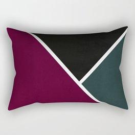 Noir Series - Red & Forest Rectangular Pillow