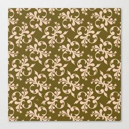 Beige flower decoration Canvas Print