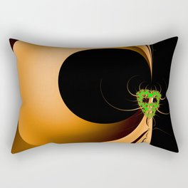 Artistic Halloween with Minimalist Fractal Abstract Mask Rectangular Pillow