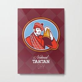 National Tartan Day Beer Drinker Greeting Card Metal Print