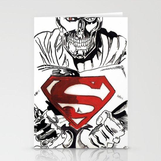 Cyborg Superman  Stationery Cards