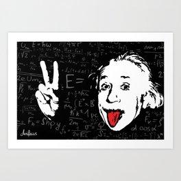 Silly Wisdom - Albert Einstein Art Print