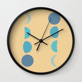 Phases of the Moon 2 - Lunar Cycle Minimal  Wall Clock